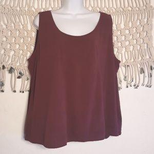 Eileen Fisher 100% silk plum camisole tank top